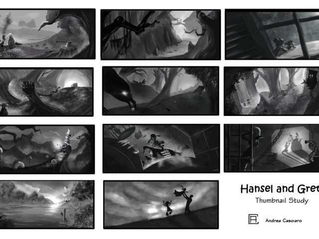 Hansel and Gretel – Thumbnail study
